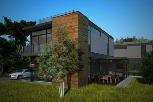 Nexterra LivingHomes Exterior Rendering